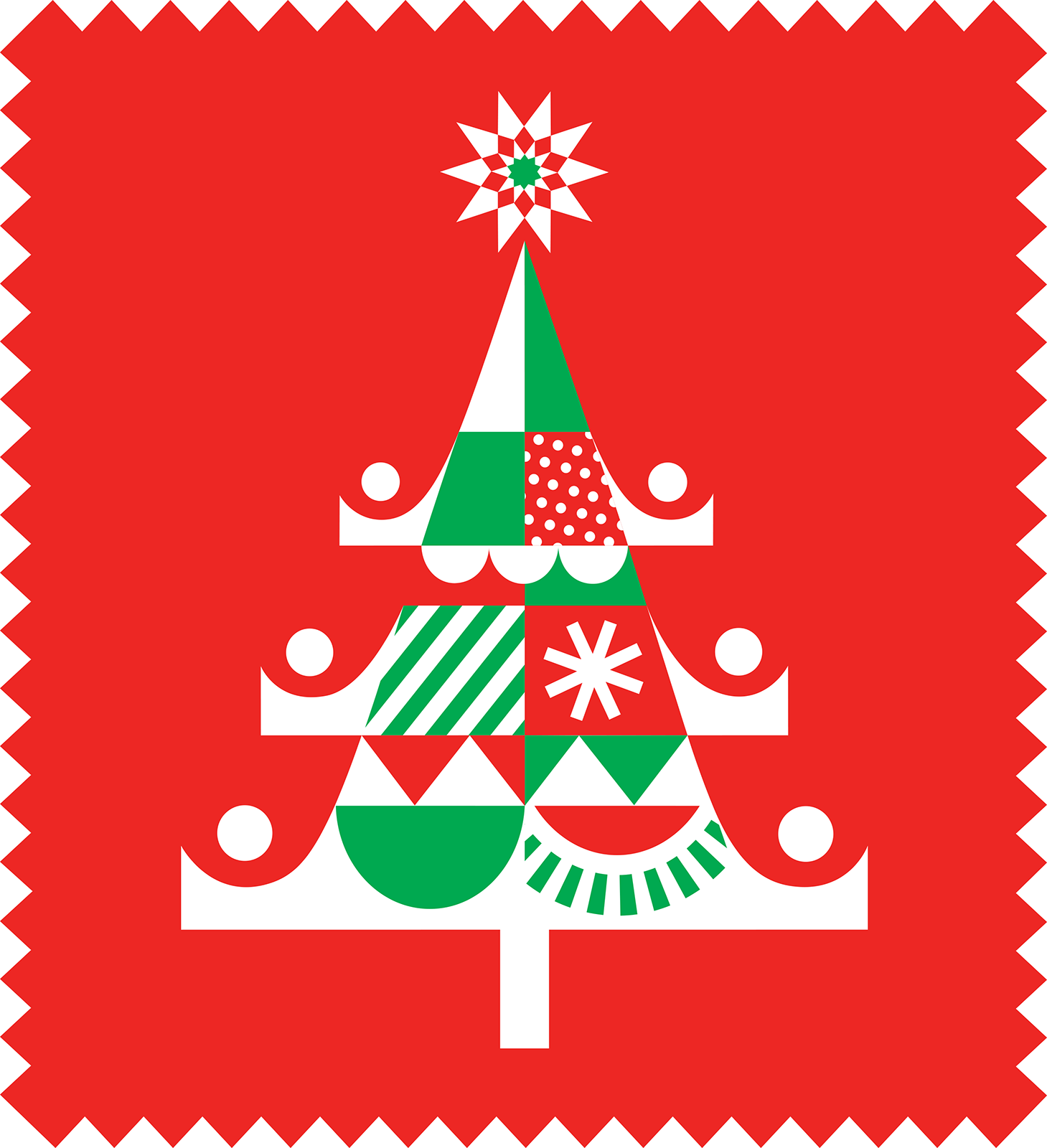 USPS 2020 Holiday Stamp by Kirsten Ulve